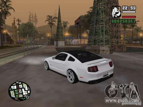 Ford Mustang GT B&W for GTA San Andreas left view