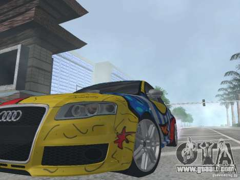Audi RS 4 for GTA San Andreas back view