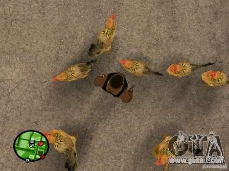 Chickens in GTA San Andreas for GTA San Andreas second screenshot