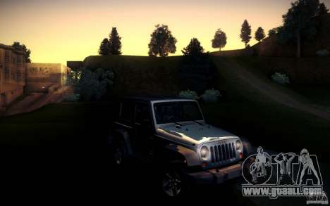 Jeep Wrangler Rubicon 2012 for GTA San Andreas back left view