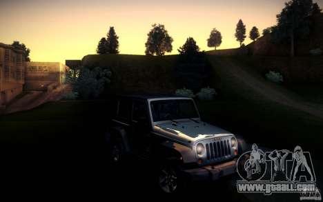 Jeep Wrangler Rubicon 2012 for GTA San Andreas back left view