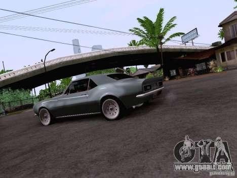 Chevrolet Camaro Z28 for GTA San Andreas back view