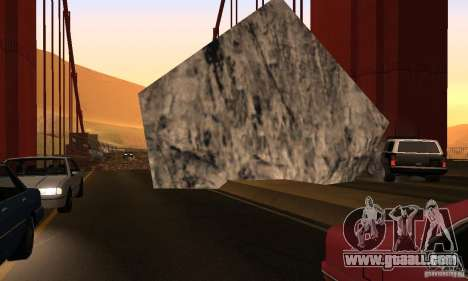 Destroyed bridge in San Fierro for GTA San Andreas sixth screenshot