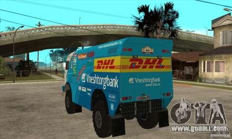 KAMAZ 4911 Rally MASTER for GTA San Andreas back view