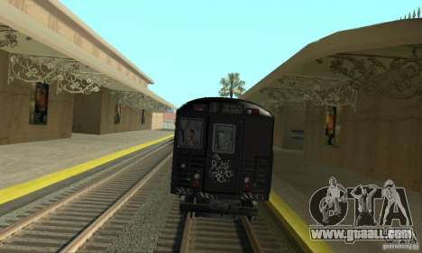 GTA IV Enterable Train for GTA San Andreas back left view