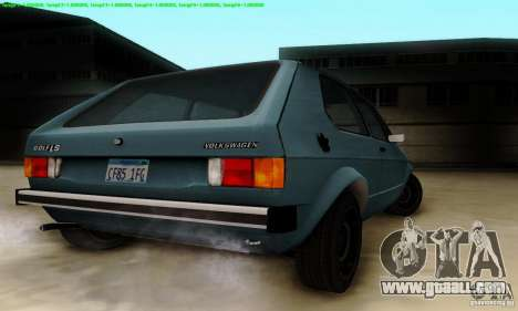 VolksWagen Golf LS for GTA San Andreas back view
