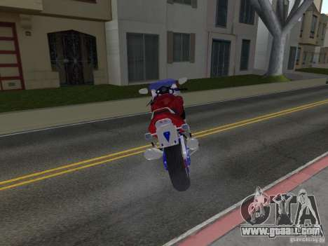Honda CBR1100XX for GTA San Andreas back left view