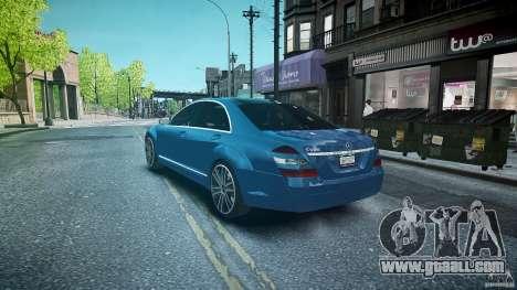 Mercedes Benz w221 s500 v1.0 sl 65 amg wheels for GTA 4 back left view