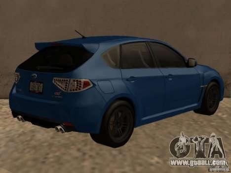 Subaru Imreza WRX for GTA San Andreas right view