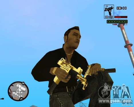 Micro Uzi Gold for GTA San Andreas