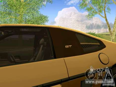 Pontiac Fiero V8 for GTA San Andreas back view
