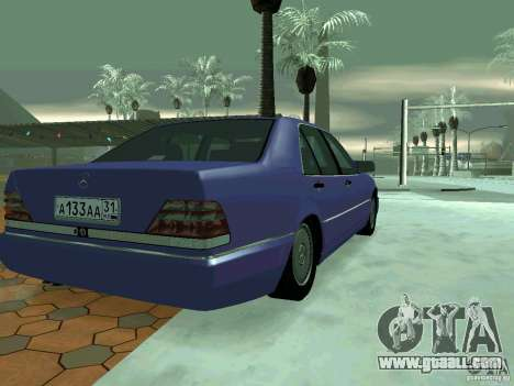 Mercedes-Benz S-Class W140 for GTA San Andreas left view