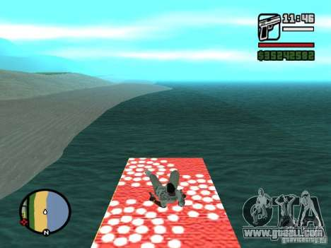 Flying Carpet for GTA San Andreas sixth screenshot