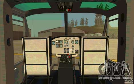 UH-1D Slick for GTA San Andreas inner view