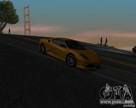 Ferrari F430 Scuderia 2007 for GTA San Andreas upper view