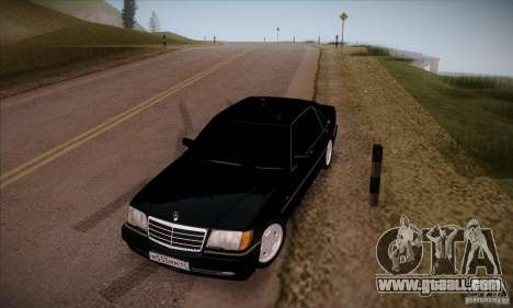 Mercedes-Benz 600SEL AMG 1993 for GTA San Andreas back view