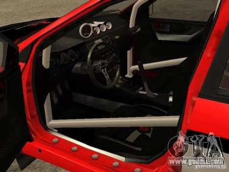 Mitsubishi Lancer Evo IX DiRT2 for GTA San Andreas inner view