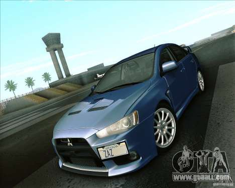 Mitsubishi Lancer Evolution X 2008 for GTA San Andreas