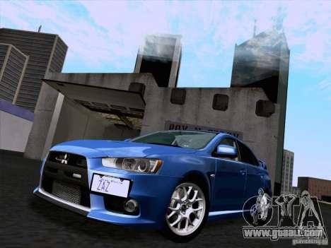 Mitsubishi Lancer Evolution X 2008 for GTA San Andreas