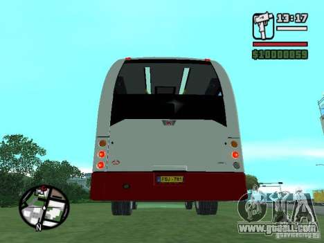 Ikarus E91 for GTA San Andreas back view