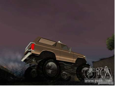 Ford Bronco IV Monster for GTA San Andreas back left view