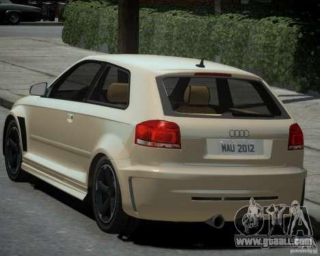 Audi S3 v2.0 for GTA 4 left view