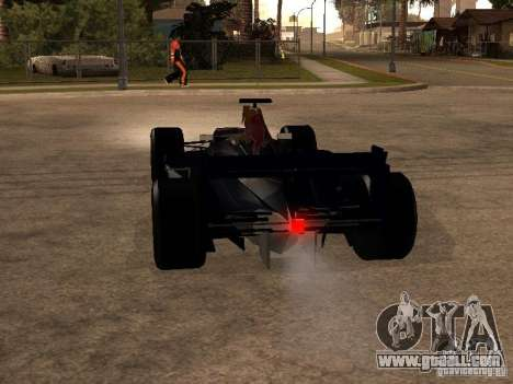 F1 Red Bull Sport for GTA San Andreas back left view