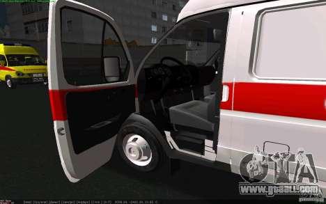 Gazelle 22172 ambulance for GTA San Andreas back left view