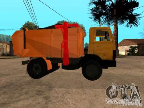 MAZ 54323 GARBAGE TRUCK for GTA San Andreas right view