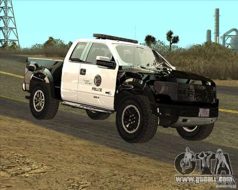 Ford Raptor Police for GTA San Andreas left view