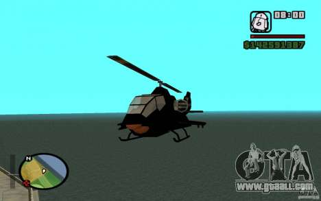 Urban Strike helicopter for GTA San Andreas