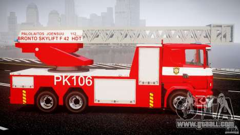 Scania R580 Fire ladder PK106 for GTA 4 back view