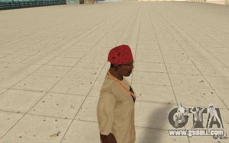 Maryshuana red bandana for GTA San Andreas second screenshot