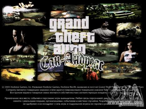 Menus and loading screens NFS Most Wanted for GTA San Andreas