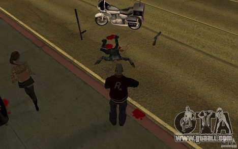 CLEO mod: renewal of Pedestrians v1.0 for GTA San Andreas second screenshot