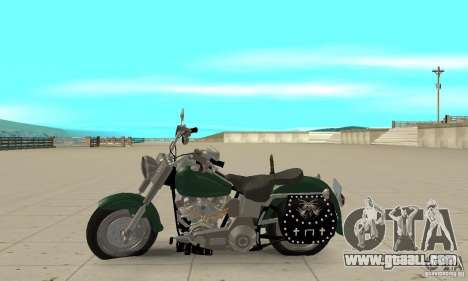 Harley Davidson FLSTF (Fat Boy) v2.0 Skin 1 for GTA San Andreas left view