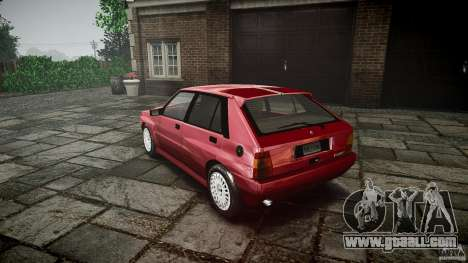 Lancia Delta HF Integrale Dealers Collection for GTA 4 back left view