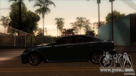 Lexus IS-F for GTA San Andreas left view