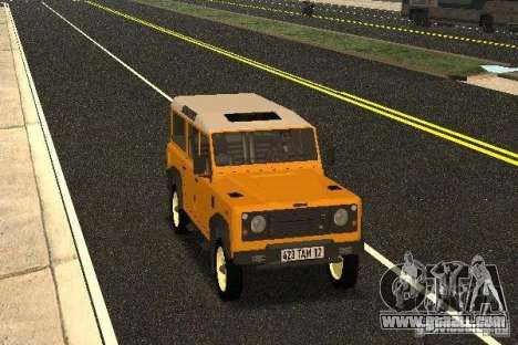 Land Rover Defender 110 for GTA San Andreas back view