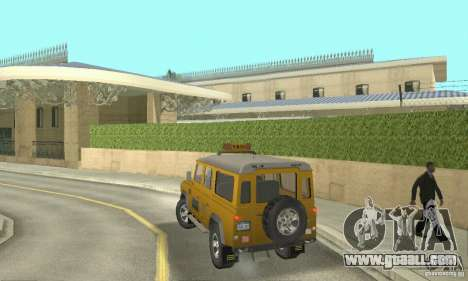 Land Rover Defender 110SW Taxi for GTA San Andreas left view