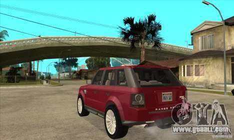 Land Rover Range Rover Sport HSE for GTA San Andreas back left view