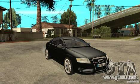 Audi RS6 2010 for GTA San Andreas back view