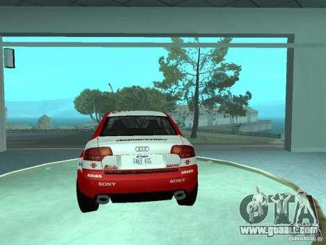 Audi RS4 for GTA San Andreas wheels