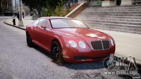 Bentley Continental GT 2004 for GTA 4 back view