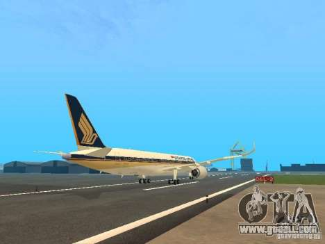 Airbus A350-900 Singapore Airlines for GTA San Andreas right view