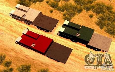 Maz-7310 Civil Narrow Version for GTA San Andreas right view