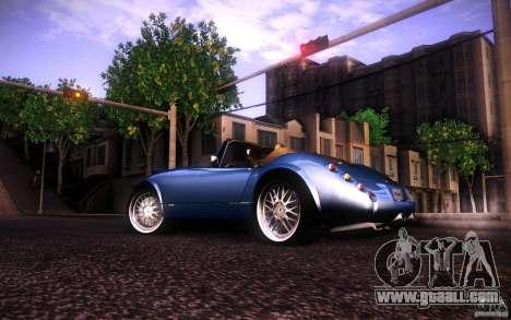 Wiesmann MF3 Roadster for GTA San Andreas back left view