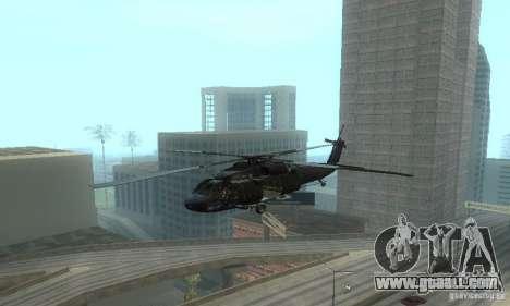 UH-60M Black Hawk for GTA San Andreas inner view