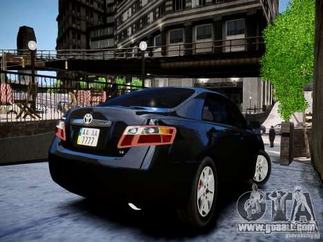 Toyota Camry for GTA 4 back left view