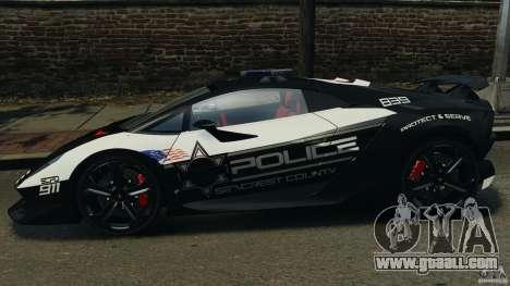 Lamborghini Sesto Elemento 2011 Police v1.0 RIV for GTA 4 left view